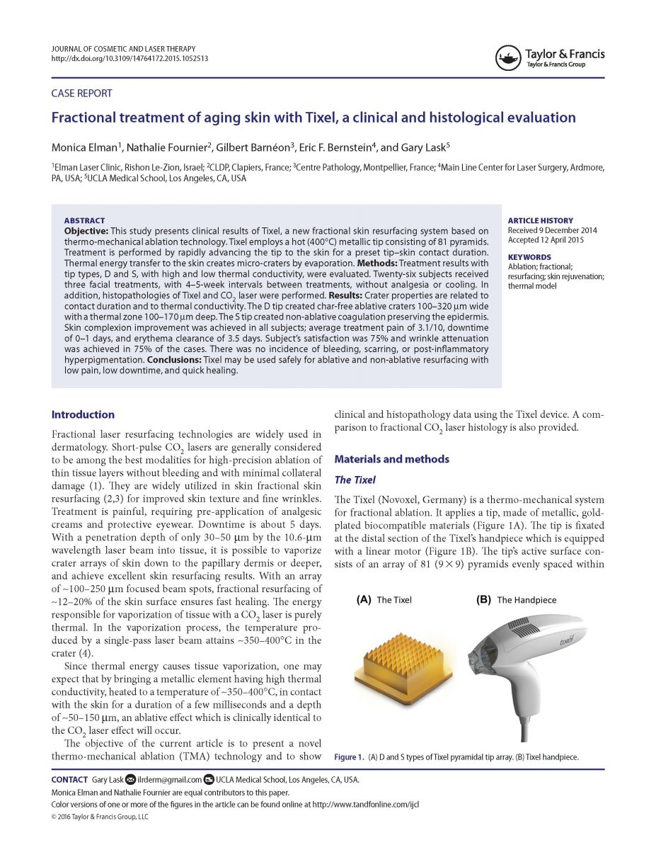 IJCL_A_1052513 - Fractional treatment of aging skin with Tixel